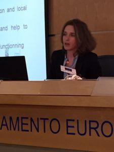 Julie Poirot, Responsable Nacional de Lácteos, DG-Alimentación del Ministerio francés de Agricultura, Agroalimentación y Bosques. Foto: Joaquín Manchado.