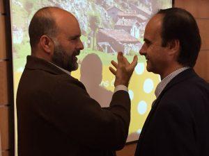 Marco Sánchez, Presidente de Socivesc con José María Alonso, Diputado en Cortes por Cantabria